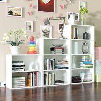 【满减优惠】加大简易小书柜书架木柜子储物柜简约现代自由组合收纳柜置物柜