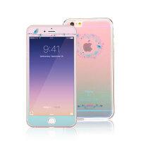 iphone6/6s plus钢化玻璃膜5.5全屏覆盖 苹果手机膜卡通高清彩膜