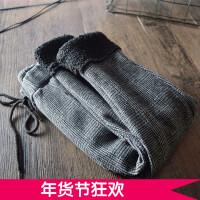 女童格子休闲裤加绒 2017冬季韩版儿童靴裤 加绒加厚铅笔裤小脚裤