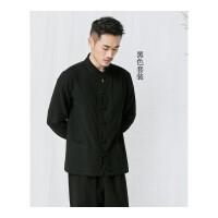 唐装男套装汉服男春中山装中国风外套中式古装居士服青年男士唐装