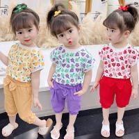 女童女宝宝夏装小女孩夏季时髦小童潮流套装