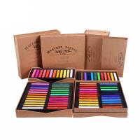 马利色粉笔24色48色专业手绘画笔色粉颜料绘画初学者色粉画画套装学生美术素描马力水溶性彩铅粉彩染发蜡笔