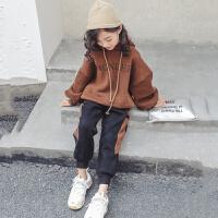 女童洋气卫衣套装秋装大儿童装秋冬时尚两件套潮