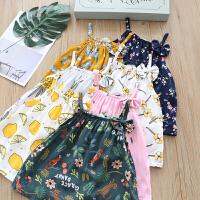 女童裙子夏季小女孩外穿儿童棉绸吊带背心上衣宝宝沙滩连衣裙