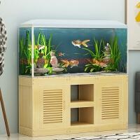 鱼缸柜底柜客厅隔断水族箱底座底柜地柜小型实木鱼缸底柜
