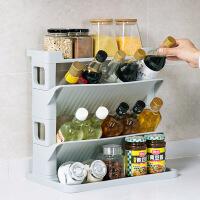 居家家斜放式调料架刀架厨房用品置物架家用大全多层调味品收纳架
