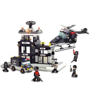 【当当自营】小鲁班防暴特警系列儿童益智拼装积木玩具 指挥中心M38-B2200