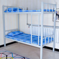 上下铺铁床双层床床学生高低床铁艺床员工宿舍床单人床铁架床 壁厚1.2 终身质保 其他 1.2米以下