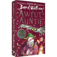 恶魔姑姑的可怕计谋 英文原版 Awful Auntie 大卫少年幽默小说系列 可怕的阿姨英文版 罗尔德达尔继承人Dav