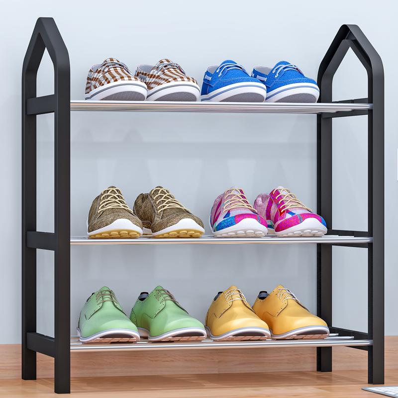 索尔诺简易鞋架 多层家用收纳鞋柜简约现代经济型组装防尘鞋架子K323加厚接口 售后无忧