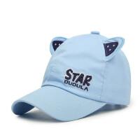 儿童棉帽子宝宝鸭舌帽韩版男女童硬檐帽小孩遮阳棒球帽