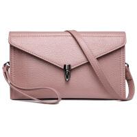 韩版时尚牛皮女包包新款信封包个性手包女士手拿包单肩斜挎包