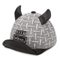 宝宝牛角鸭舌帽 儿童造型帽男童鸭舌帽宝宝帽