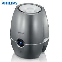 飞利浦(PHILIPS)加湿器 4L大容量 上加水 纳米无雾加湿 静音办公室卧室家用加湿 HU4903/02 暗金属银