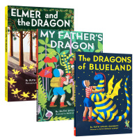 顺丰发货 英文原版My Father's Dragon系列: 3册 我爸爸的小飞龙系列(全三册) 纽伯瑞银奖Elmer and the Dragon The Dragons of Blueland