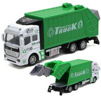 合金工程车回力环卫车垃圾车消防车洒水车男女孩儿童宝宝玩具车模型礼盒
