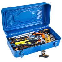 铁皮工具箱大号铁皮手提箱车载铁箱子多功能组合维修箱