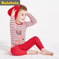 巴拉巴拉童装男童宝宝保暖内衣套装冬装卡通秋衣秋裤套装