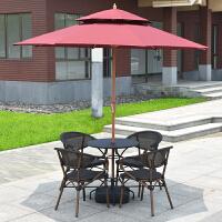 户外桌椅组合阳台藤椅三件套露天庭院外摆咖啡室外露台休闲腾椅子