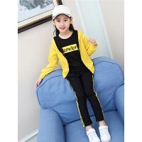 女童秋装套装时尚潮衣运动时髦三件套衣服小女孩洋气