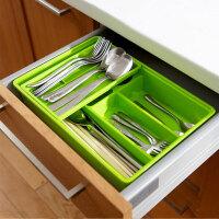 普润 炫彩易分类双层抽屉收纳盒--绿色