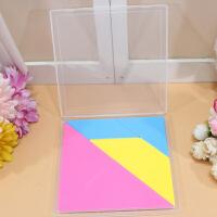 小灵精塑料盒装七巧板 智能拼图拼版 儿童益智玩具积木 教学用具