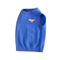 【2件3折到手价:65.45】小猪班纳童装儿童马甲男童秋装宝宝毛线背心纯棉针织上衣无袖毛衫