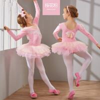 儿童舞蹈服装女童长袖幼儿芭蕾舞裙少儿体操服练功服
