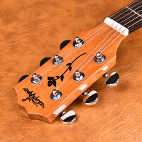 初学者新手男女学生吉它乐器吉他复古民谣电箱单板吉他41寸木吉他