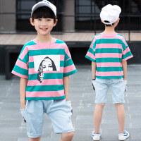 男童运动套装10十男大童男装夏装12小学生男孩13儿童短袖衣服14岁
