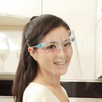 厨房防油溅面罩 护肤面罩 双面防雾防尘防护透明面具做饭烧菜护脸挡油 颜色随机