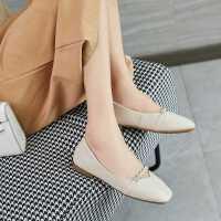 达芙妮2020秋季新款真皮女鞋玛丽珍鞋复古小低跟浅口单鞋豆豆鞋