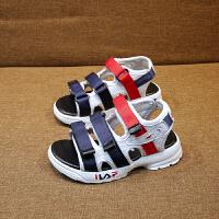 男童凉鞋夏季儿童鞋子中大童男孩露趾沙滩鞋童鞋