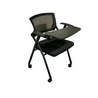 培训椅带写字板椅子加厚一体小桌板折叠会议室椅员工办公椅新闻椅