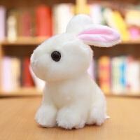 兔子毛绒玩具韩国可爱仿真兔兔公仔小白兔玩偶少女心娃娃小号女生