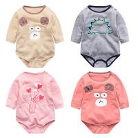 婴儿连体衣服宝宝新生儿0岁3个月潮款哈衣季长袖三角冬季