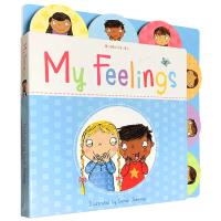 正版现货 我的情绪感受 英文原版 My Feelings 儿童情绪宣泄管理绘本 情商培养 感受表达 儿童心理健康教育 亲