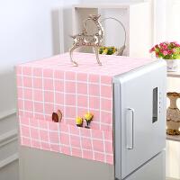 海尔双开冰箱遮尘罩 家用海尔西门子冰箱盖布冰箱罩防尘罩单开门双开门棉麻冰箱巾卡通
