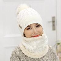韩版潮针织帽青年保暖帽围脖护耳帽韩国帽子女毛线帽子女