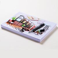 千彩乐绘图工程机械设计制图彩铅画纸马克本A3 A4马克笔专用纸绘画手绘本画本美术本