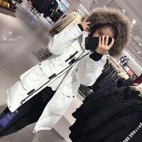 冬季户外工装羽绒服女冲锋衣中长款保暖加厚滑雪服女外套潮新品