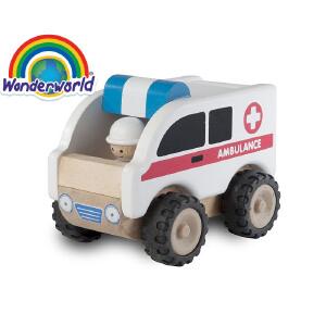 [当当自营]泰国Wonderworld 小小救护车 木质玩具车