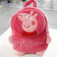 幼儿园小猪佩奇书包女童双肩包毛绒小童迷你可爱1-3岁小背包