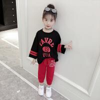 童装女童套装秋装洋气运动套装大童韩版卫衣休闲两件套潮