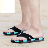 新品人字拖鞋男士凉鞋夏季权志龙GD同款夹脚沙滩鞋韩版潮流个性皮拖鞋青年