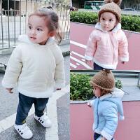 女婴儿外套装男童秋冬新生儿加绒加厚保暖宝宝衣服新年