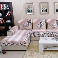 福存家居 欧式现代时尚毛绒沙发垫 法兰绒真皮布艺沙发坐垫绗缝加厚防滑