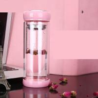 韩版玻璃杯双层便携水杯女学生可爱随手杯泡茶杯子家用s2l