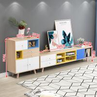 北欧电视柜茶几组合家具套装实木现代简约小户型客厅简易卧室地柜 整装