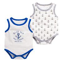 婴儿连体衣服宝宝新生儿季01岁月薄款无袖三角哈衣春款新年